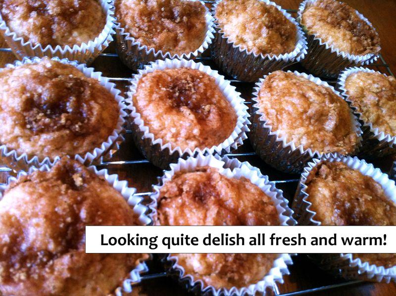 Finished apple muffins (blog)